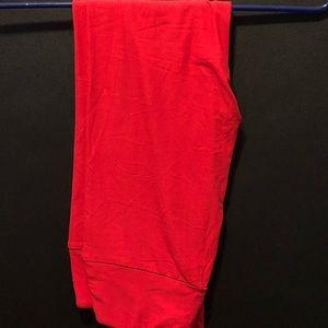 OS Solid Red LuLaRoe Leggings